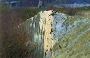 One of my Dad's land marks - the remnants of the drift shaft