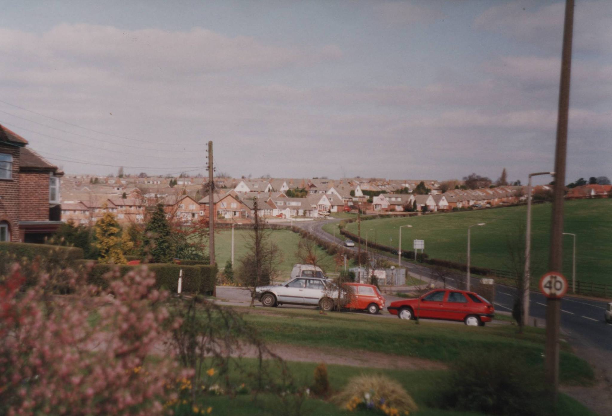 Ogley Hay Road, before the roundabout 1993
