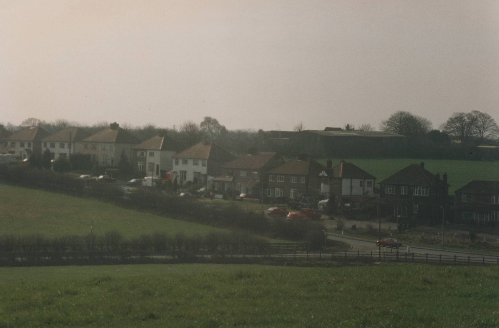 Ogley Hay Road, taken from the fields in Hammerwich 1993, before new roundabout