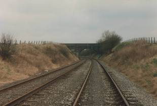Railway track from Dark Lane, North & South but I not sure which way round