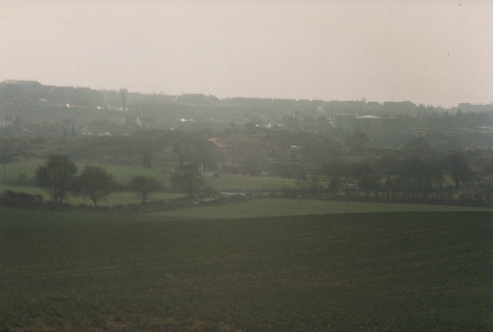 Hanney Hay Road and Green Lane, the motorway now runs straight across 1993