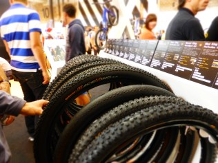 Tyres were sadly underrepresented, with Schwalbe absent, but the Continental stand was interesting.
