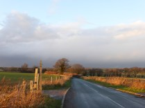 Footherley Lane. The black cloud rained on me before I got home...