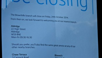 HSBC branch in Brownhills to close in November | BrownhillsBob's