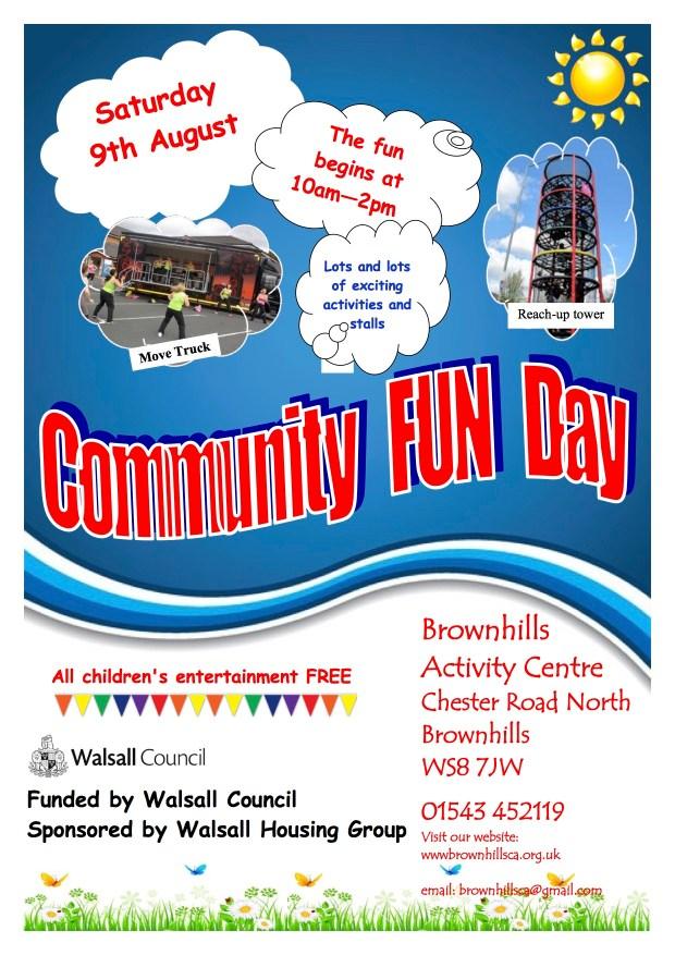 Community Fun Day poster