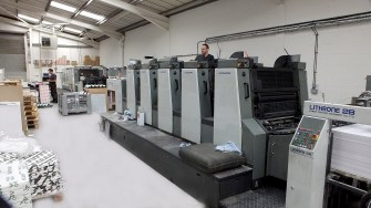 The press room of Excel print today at Aldridge which the Sylvester brothers now own and which printed the latest copy of the 'Clayhanger Kid'. Image very kindly supplied by John Sylvester.