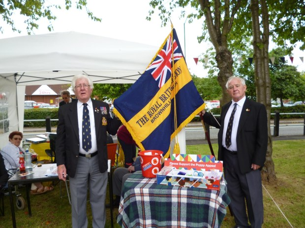 Mr Brian Bennett and Mr John Bird, pictured at last summer's Canal festival. Image kindly supplied by David Evans.