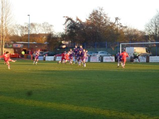 nevitably, the Wood scored the first of their three goals, from a well co-ordinated approach and final shot on goal. Image courtesy of David Evans.