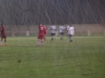 The goal was impossible to photograph from the other end of the pitch! Image kindly supplied by David Evans.
