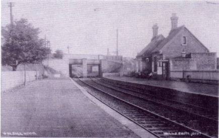 Posted by Si Swain on Facebook who says 'Walsall Wood station in 1912 looking towards Aldridge. A splendid little station that never saw more than 3 passenger trains per weekday each direction. Copyright John Alsop Collection.'
