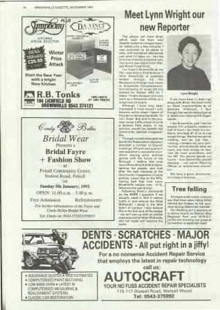 Brownhills Gazette December 1991 issue 27_000014