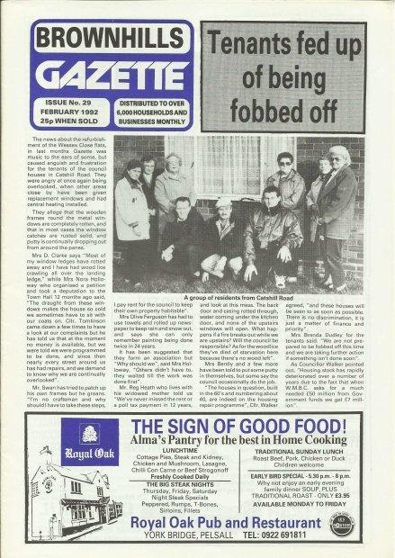 Brownhills Gazette February 1992 issue 29_000001