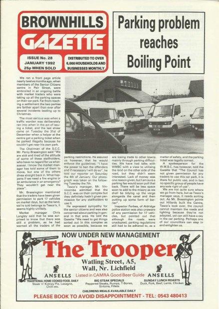 Brownhills Gazette January 1992 issue 28_000001