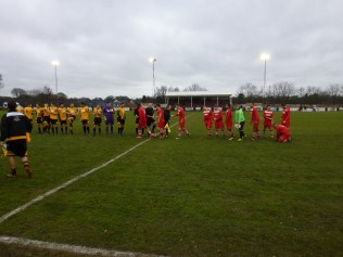And the players , eager for the match to start, shook hands in the customary sign of sportsmanship