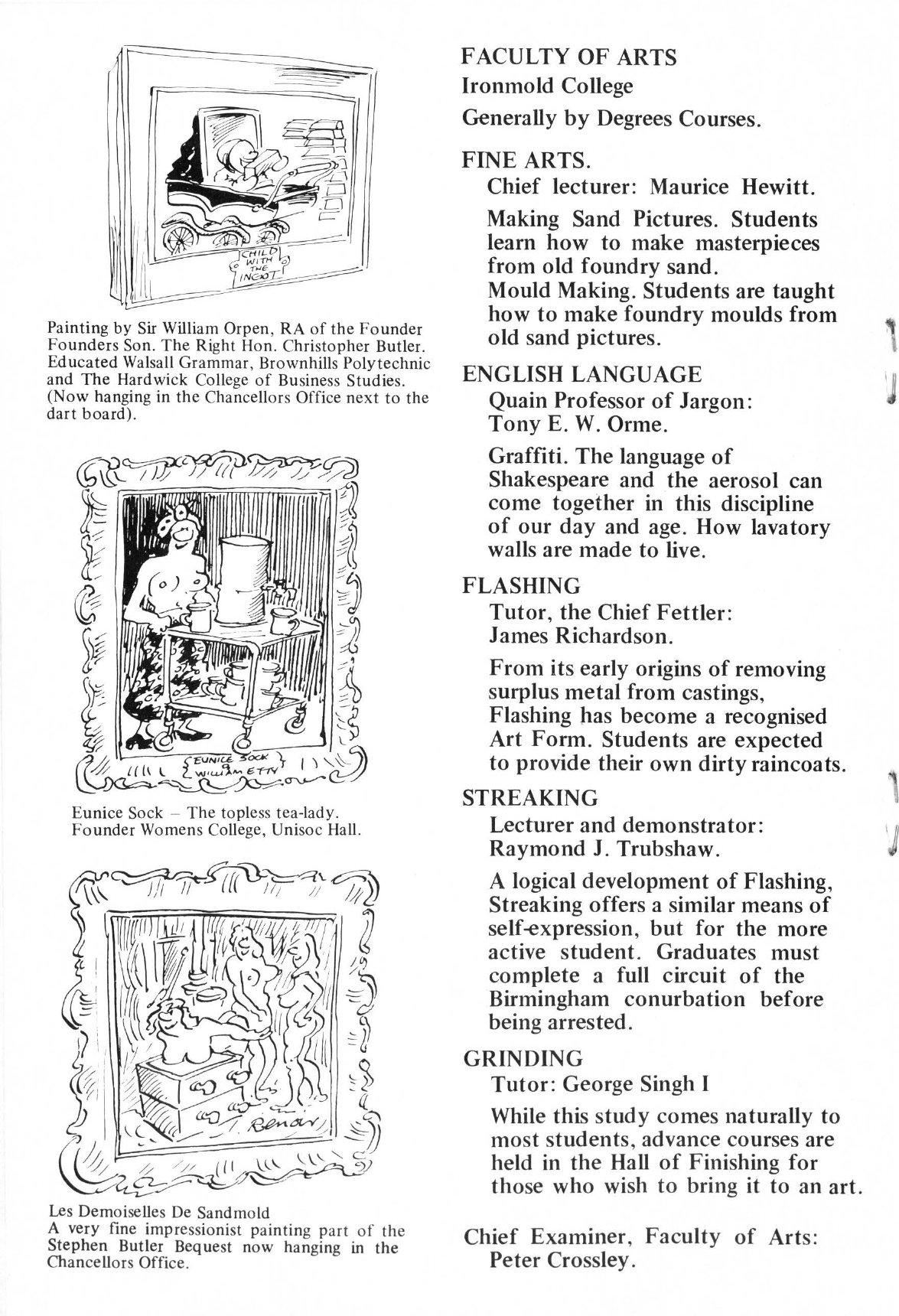 Casting aspersions – the University of Brownhills Prospectus 1979-80