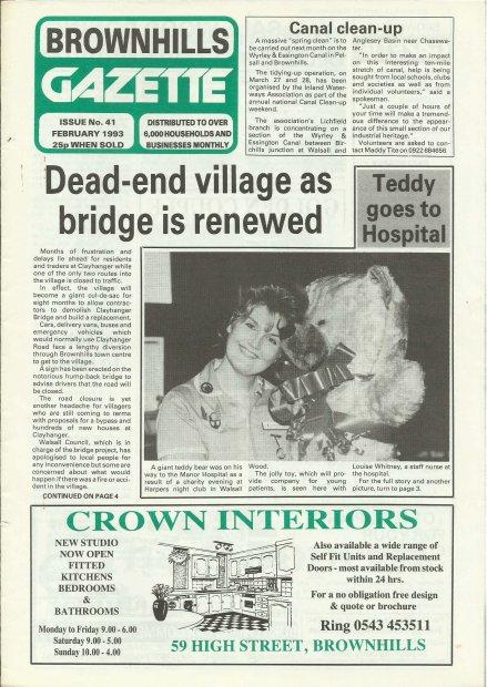 Brownhills Gazette February 1993 issue 41_000001