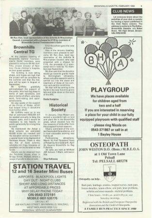 Brownhills Gazette February 1993 issue 41_000009