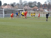 An early foray in to startled Basford's goal area