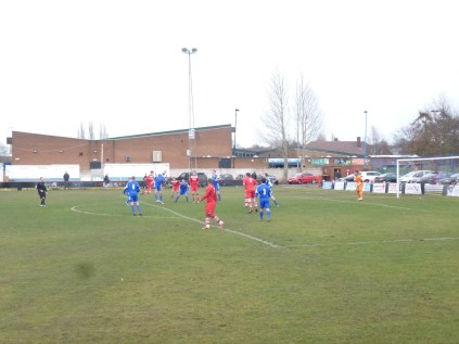 An early foray by WWFC into AFC Wulfrunians area saw the start of a well-played, sporting game, characterised by confident passing and play by both sides.