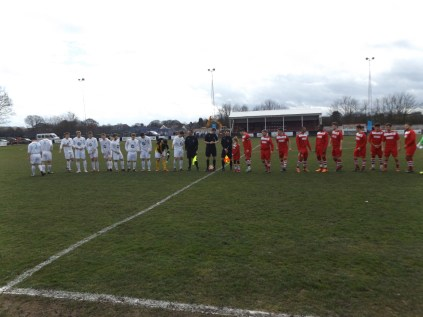 The visitors, Westfields, wearing their white strip at Oak Park