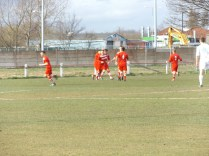 Walsall Wood celebrate their first goal