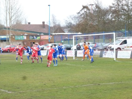 Walsall Wood began to turn up the pressure and move forward to create goal- scoring chances.