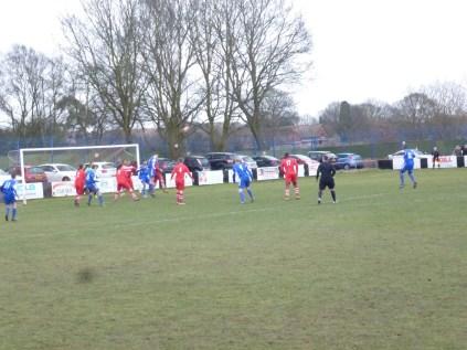 Second half attack by AFC Wulfrunians.