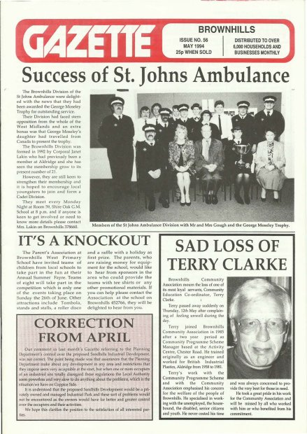 Brownhills Gazette May 1994 issue 56_000001