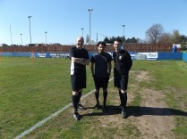 Todays match officials, Messrs Ahmed, Mitchell and Bivens