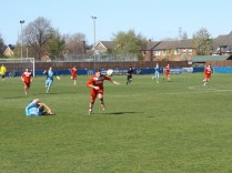 Joey Butlin leaves his opponent to break for goal