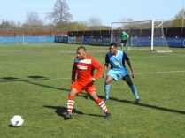 spirited, close monitoring by Long Eaton defender