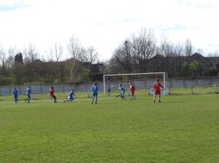 A near goal by Walsall Wood in the second half.