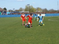 Constant first half pressure by Walsall Wood