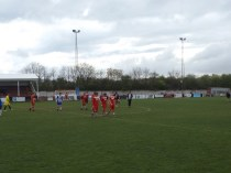 End of match and applause for both teams.