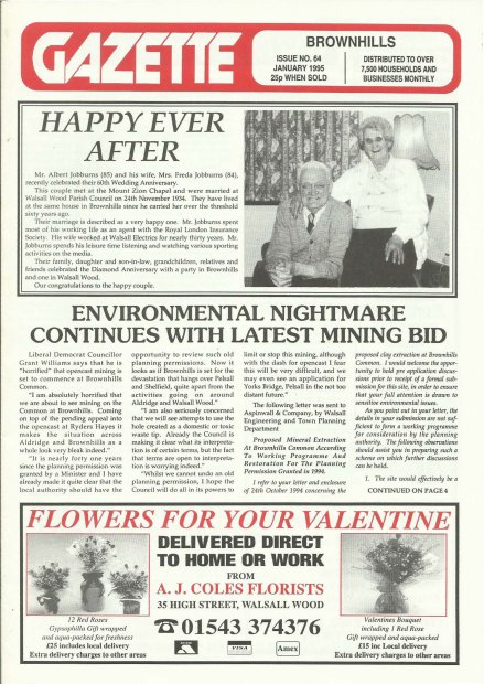 Brownhills Gazette January 1995 issue 64_000001