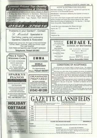 Brownhills Gazette January 1995 issue 64_000027