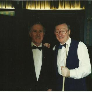 With Dennis Taylor