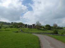 The ruins of Throwley Hall