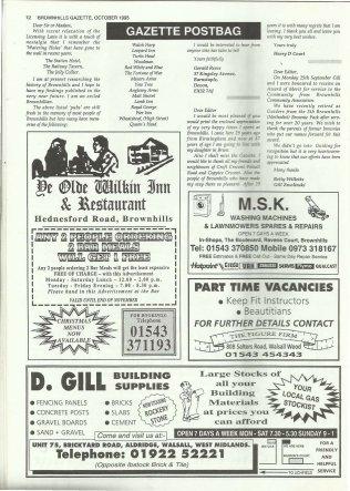 Brownhills Gazette October 1995 issue 73_000012