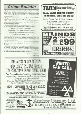 Brownhills Gazette October 1995 issue 73_000013