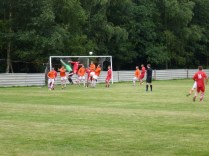 A fine clearance by Pelsall goalkeeper