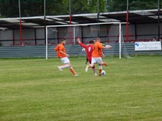 A rare shot towards goal, by WWFC