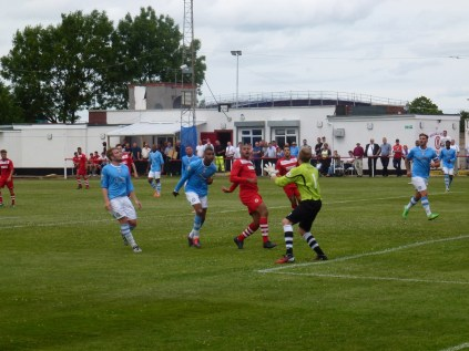 Another fine attacking move by Walsall Wood, and excellent goalkeeping by Hednesford