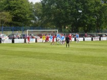 The build up to Henesford's equalising goal in the second half