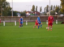 The start of an early attacking move by Kidsgrove