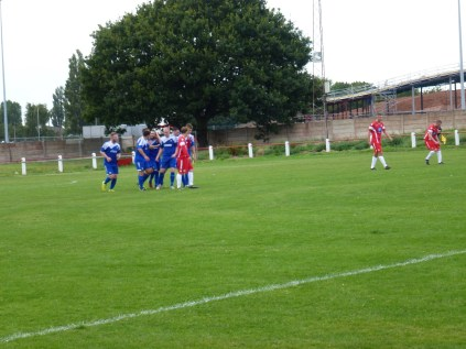 Lye celebrate their well worked equalising goal