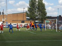 Corner kick to the Wood; well defended by Bardon