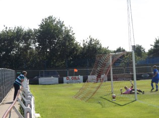 A goalmouth scramble,and the equalising goal to Bardon.