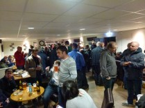 Half-time conviviality as the clubhouse soon fills up with thirsty fans, keen to sample real ale.