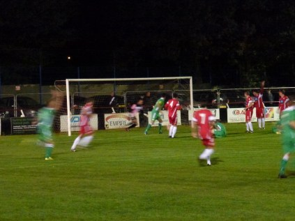 Second half attack on goal by Alvechurch